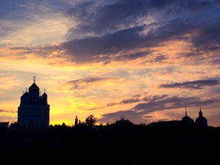 Вознесенский собор на закате, г. Елец