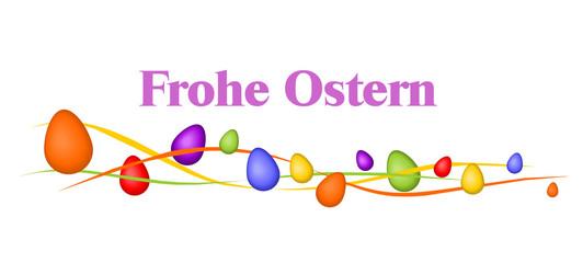 Banner aus bunten Eiern, Frohe Ostern