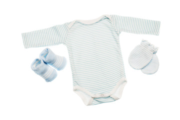 object on white - clothes for baby close up