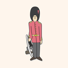 Queen's Guard theme elements vector,eps
