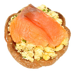 Salmon And Scrabbled Eggs On Toast