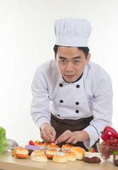 asian chef preparing foods