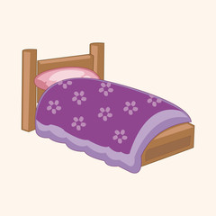 furniture theme bed elements vector,eps