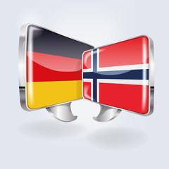 Sprechblasen in norwegisch und deutsch