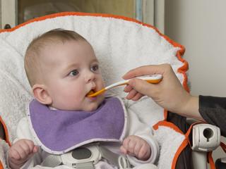 newborn eating