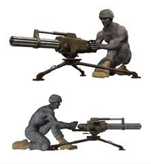 zombie soldato che spara