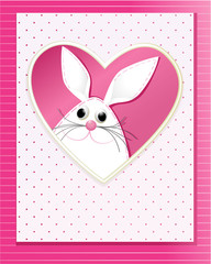 Easter card with funny bunny