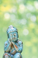 buddha figur türkis