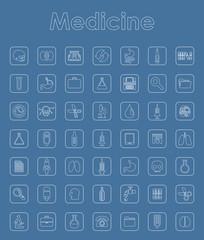 Set of medicine simple icons