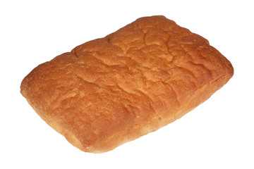 Isolated Italian ciabatta bread