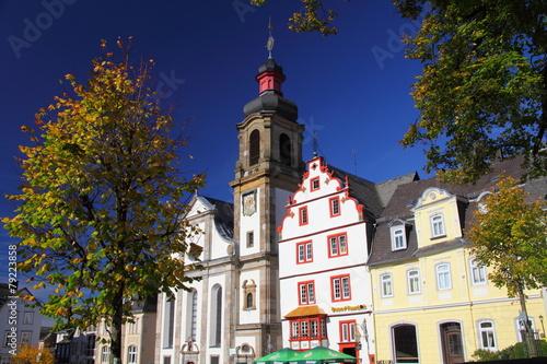 Leinwanddruck Bild Hachenburg, Westerwald, am Marktplatz