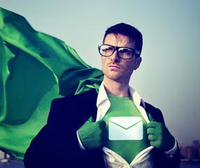 Envelop Star Strong Superhero Success Empowerment Concept