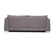 Leinwanddruck Bild - Rear view studio shot of a modern gray sofa