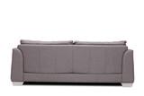 Rear view studio shot of a modern gray sofa