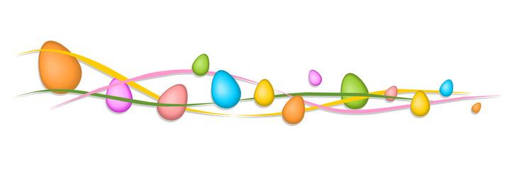 Osterbanner aus bunten Eiern