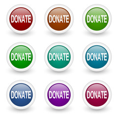 donate vector icon set