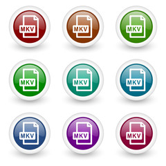 mkv vector icon set