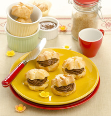 choux pastry with chocolate