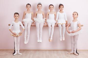 Group of six little ballerinas