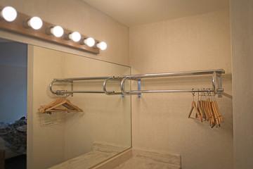 Wooden Hangers in Motel
