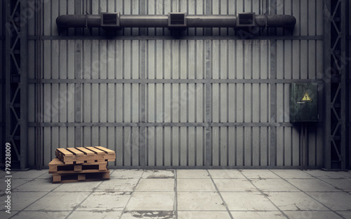 old empty warehouse - 79228009