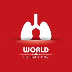 Creative World Asthma Day Greeting stock vector