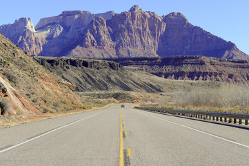 Driving in the mountains and canyons, Southwestern USA