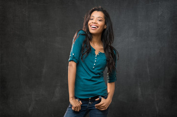 African young woman smiling