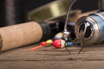 Heart shaped fishing hooks