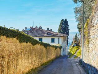 Fiesole near Florence, Tuscany Italy.