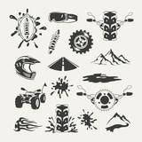 Set of extreme sports emblems, badges, labels and designed - 79230251