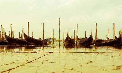 Famous gondola at Venezia Italia