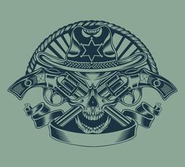 Illustration of Sheriff's skull.