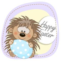 Hedgehog with egg