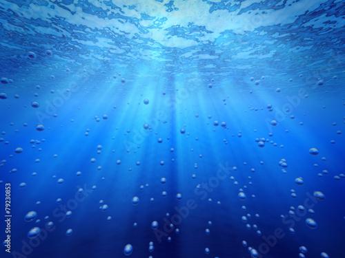Blue ocean underwater.