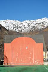 Open-air fronton for Basque pelota