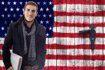 Student vor Amerikatüre