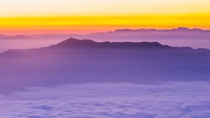 High angle view mountain peak