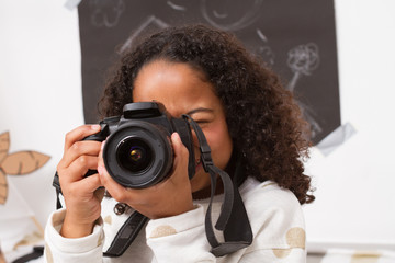 Little photographer taking photos