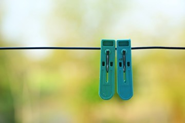 plastic clothes pegs.