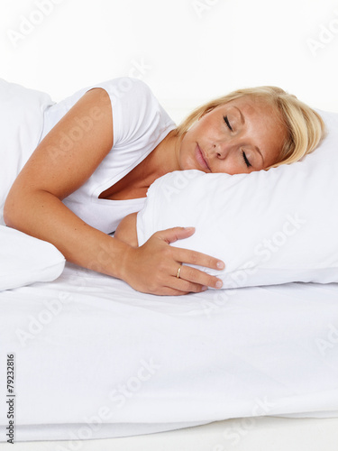 canvas print picture Sleeping woman