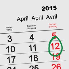 April 12 - Orthodox easter 2015 calendar