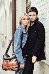 Young beautiful couple outdoor portrait