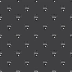 ear, vector seamless pattern .