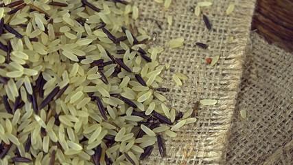Heap of rotating mixed Rice (not seamless loopable)
