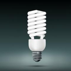 Vector energy saving lamp.
