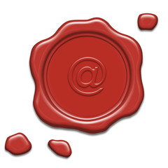 Wax seal with @-sign