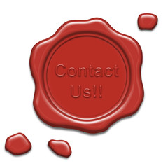 Contact us wax seal