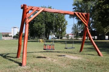Playground swings in Hungary