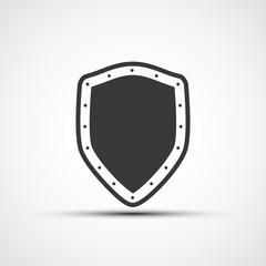 Vekton icon metal shield